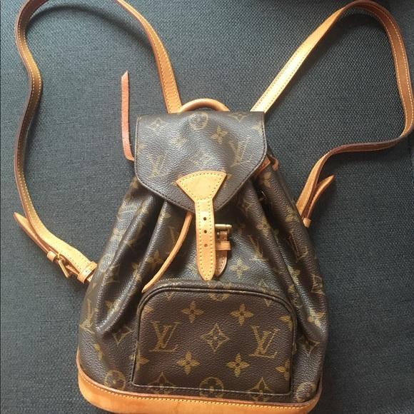 f06b8cc15109 Louis Vuitton Handbags - Authentic Louis Vuitton Montsouris Mini Backpack
